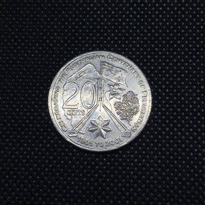 澳洲紀念幣 2001年 [ 首都 ]- 紀念聯邦一百週年 20 cents / Capital Territory 20分 硬幣 錢幣