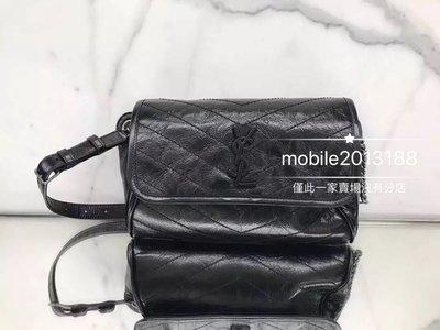 全新正品 Saint Laurent 577124 YSL NIKI body bag 黑色 復古腰包 胸口包 斜背包