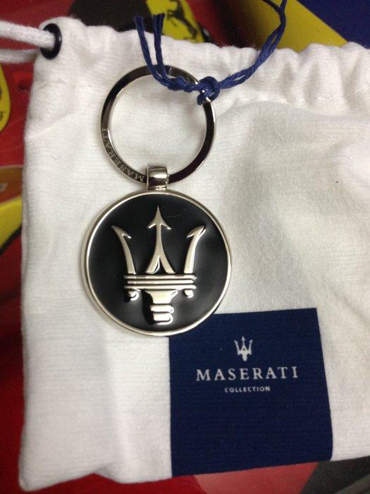 Maserati瑪莎拉蒂海神三叉戟商標鑰匙圈(黑色)~補貨中!