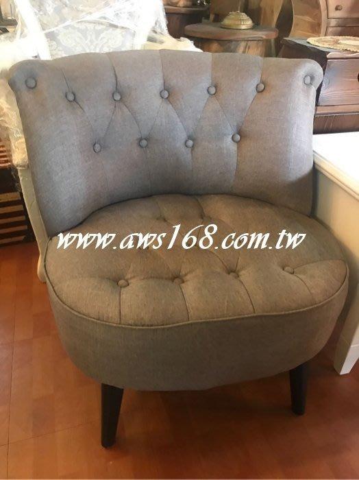 單人椅 日式亞麻布單人沙發椅