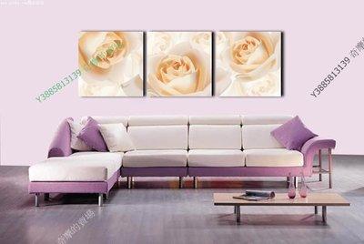 【40*40cm】【厚2.5cm】金色玫瑰-無框畫裝飾畫版畫客廳簡約家居餐廳臥室牆壁【280101_084】(1套價格)