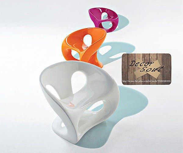 DS北歐家飾§設計復刻Hara Chair 哈拉椅 戶外休閒椅 防水玻璃鋼 造型創意單椅 咖啡廳會客室