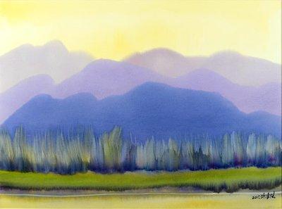 謝孝德 青青草原 2011 75X55.5cm (H164桃園、客家、本土、台灣、師大、教授、美展、當代、藝術)