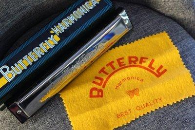 【老羊樂器店】全新 BUTTERFLY HARMONICA 蝴蝶牌口琴 24孔C調 複音口琴 SH-B24C 公司貨