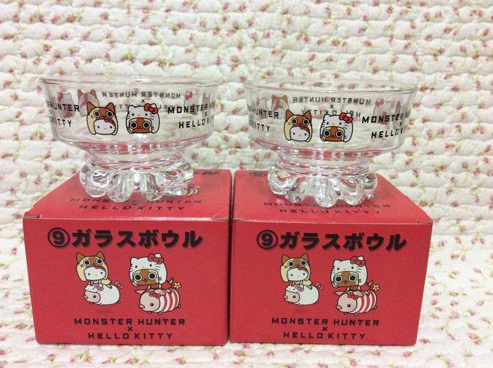 Sanrio hello kitty 布丁杯&冰淇淋玻璃杯組—2入ㄧ組《日本製.2011年商品》收藏特價出清