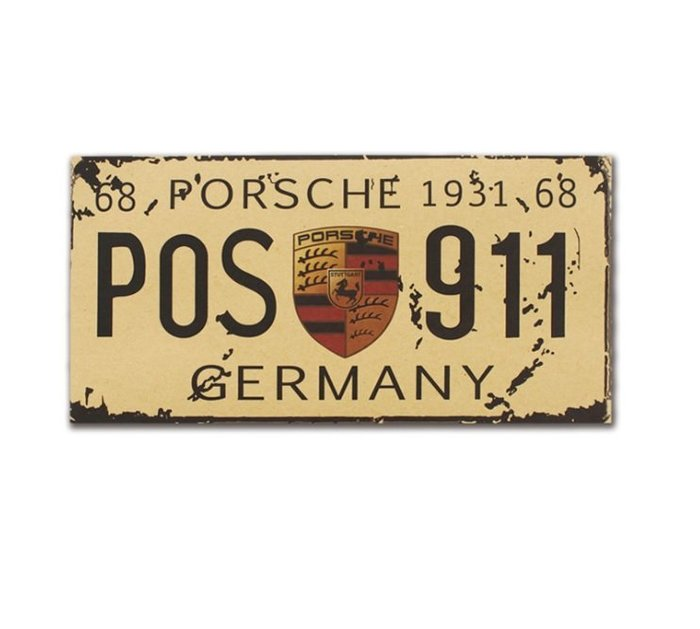 【貼貼屋】歐美風 復古車牌 賓士 法拉利 保時捷 奧迪 超跑 復古海報 牛皮紙海報 店面裝飾 壁貼