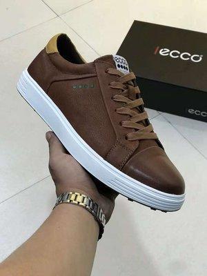 ECCO愛步男鞋2019新款復古板鞋日常休閒鞋低幫耐磨鞋子高爾夫球鞋38-44