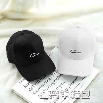 鴨舌帽 黑色棒球帽韓版時尚青年字母透氣春夏鴨舌帽運動帽子刺繡遮陽帽潮