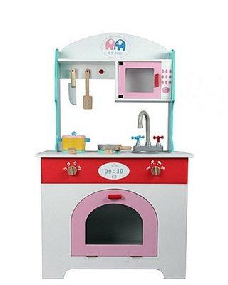 【阿LIN】193641 幼樂比15060 木製小木象廚房 廚房組合櫃 烤箱 辦家家酒 仿真廚具組合