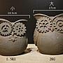 美學空間 ART STUDIO~荷蘭個人文創工作室/水泥手工製作阿Q貓頭鷹/大小一組/擺飾品.收藏品