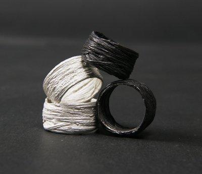 宏美飾品館~-TTULF-原創先鋒DETAJ風格HAIR RING髪絲造型925銀戒指