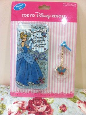 東京家族 日本東京迪士尼 灰姑娘-iphone 6手機保護殼 附吊飾