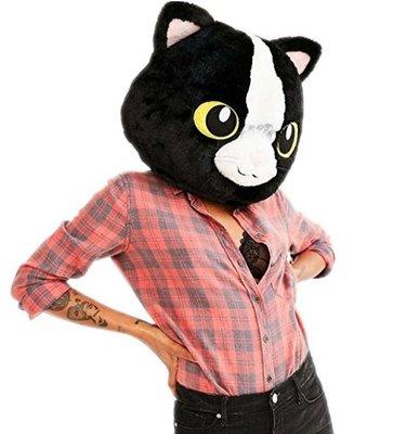 【丹】A_Big Fat Head: CAT 貓咪 黑色 貓頭 貓 造型 帽子 頭套 COSPLAY