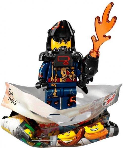 現貨【LEGO 樂高】積木 / 人偶包系列 忍者電影 71019   #14 鯊魚軍團 大白鯊魚頭小兵+武器