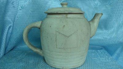黑色小館~~4F32~~~正老件~~~陶茶壺(約高16公分.寬13公分)