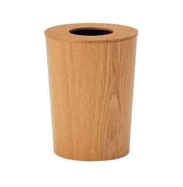 【優上】升級款平蓋圓桶水曲柳木製垃圾桶廢紙簍垃圾簍日系木質垃圾筒
