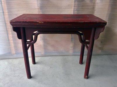 【一(藝)窩】清代 紅漆桌~榆木~