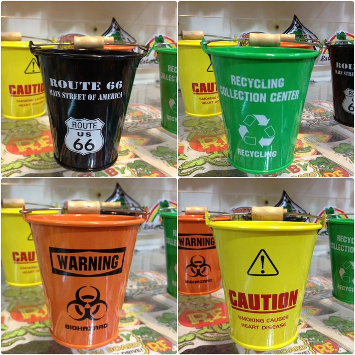 (I LOVE樂多)日本進口 迷你小水桶 ROUTE66多種款式供你選擇 可當小盆栽.筆桶.雜物桶