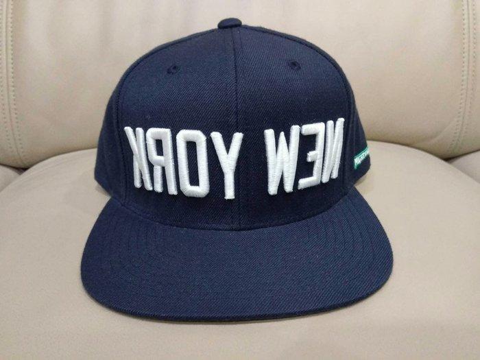 全新  美國運動品牌 STARTER 藍色 NEW YORK 反字 後扣式棒球帽 Snapback