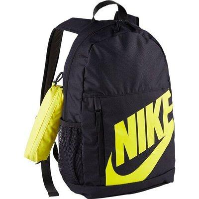 南◇2020 1月 NIKE Elemental 後背包 背包 休閒 筆袋 水壺袋 黑色黃色 Ba6030-080