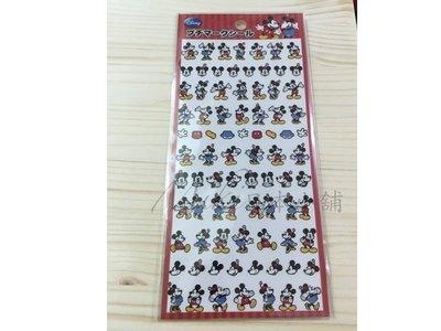*Miki日本小舖*日本迪士尼 米奇&米妮造型貼紙 日本製