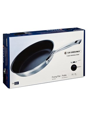 Le Creuset 3-Ply Stainless Steel 24cm Non-Stick Frying Pan