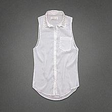 Maple麋鹿小舖 Abercrombie&Fitch * AF 珠珠無袖雪紡襯衫 * ( 現貨S/M號 )
