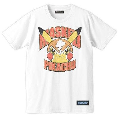 寶可夢 MASKED 皮卡丘 短袖 T-Shirt 日本神奇寶貝中心 限定原裝進口 S / M / L