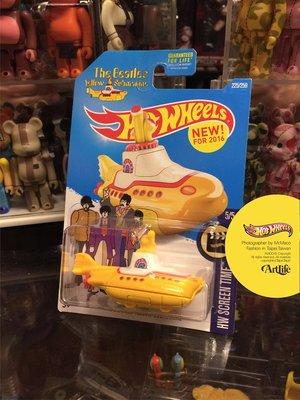 ArtLife @ 風火輪 Hot Wheels 披頭四 Beatles Yellow Submarine 黃色潛水艇