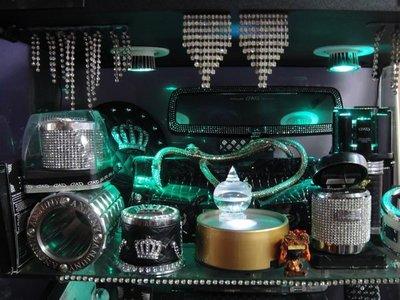 [達拉斯] VIP精品水鑽後視鏡,排檔,煙灰,香,置杯架,MAZDA馬3,5 WISH solio,fit,sentra,livina