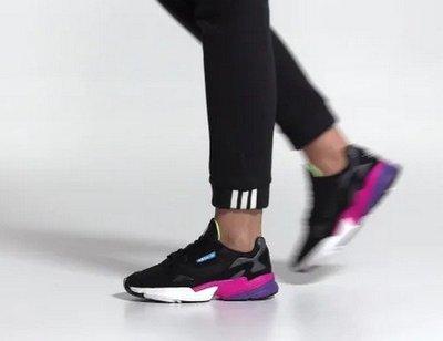 【豬豬老闆】ADIDAS ORIGINALS FALCON 復古 休閒 老爹鞋 女鞋 黑紫CG6219 粉白EE8937