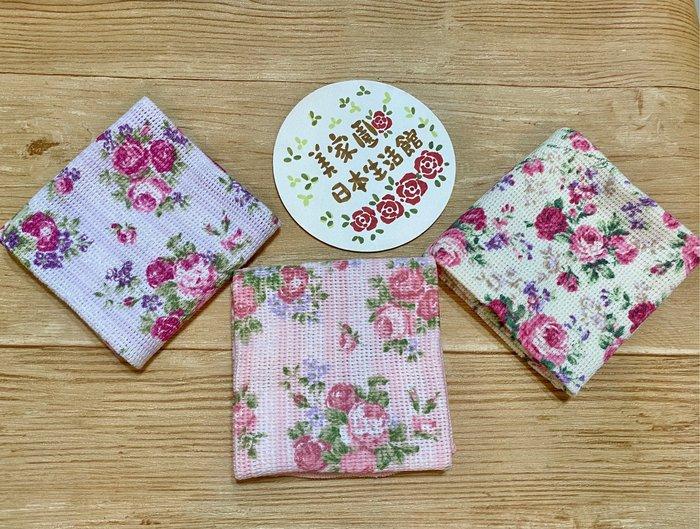 美家園日本生活館 日本帶回 純棉吸水 玫瑰花抹布 家飾布 賣場C