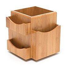 GReenfield~全新高級竹製環保可旋轉文具收納盒Bamboo Revolving Desk Organizer