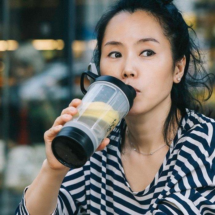 [免運]搖搖杯健身蛋白粉運動帶刻度果汁杯帶粉盒攪拌球酵素奶昔杯ˉ—ˉ【E視界】