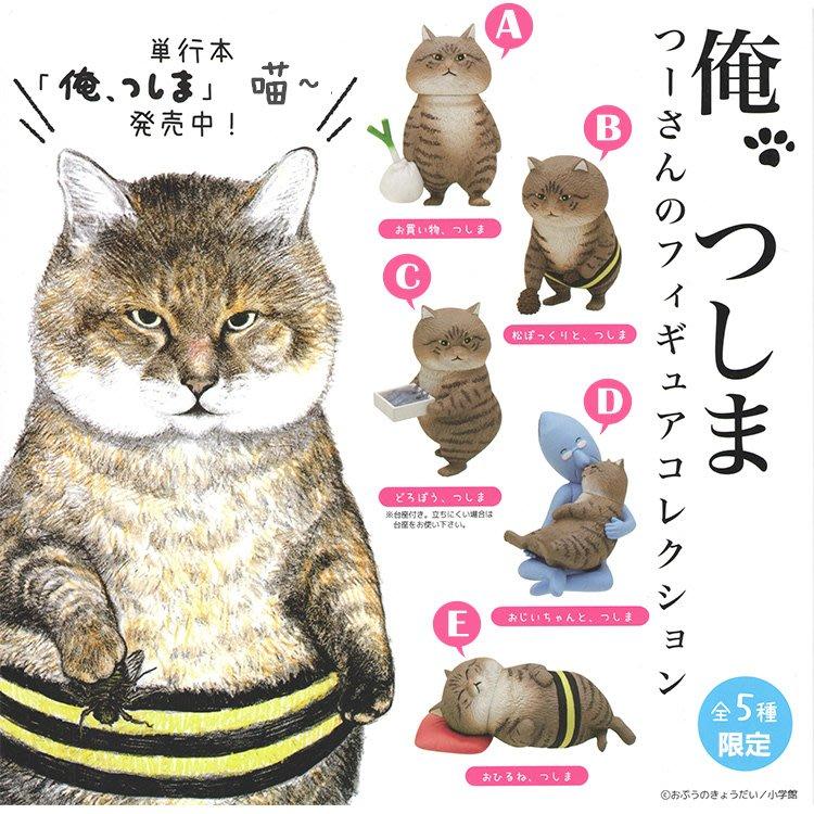 現貨日本限定幸福肥的流浪貓俺是貓津島一套五隻肥貓咪手辦公仔擺件盒裝