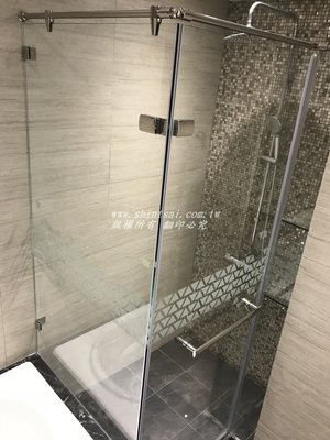 shintsai玻璃 淋浴拉門 淋浴間乾濕分離  浴室玻璃拉門 淋浴間玻璃門 鋁框玻璃門 玻璃滑門