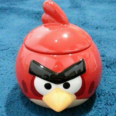 全新 Anger Birds 憤怒鳥 紅鳥 手工製造 陶瓷 公仔馬克杯(含杯蓋)