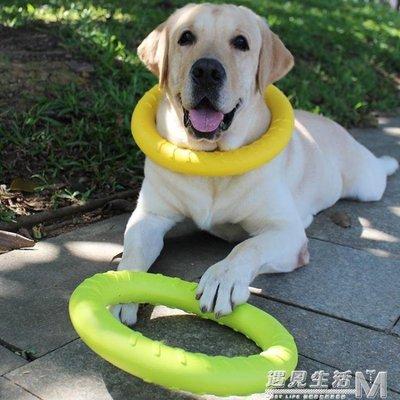 訓狗犬玩具拉環咬環耐咬幼犬互動圓環咬膠球金毛拉布拉多中大型犬