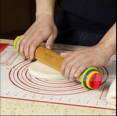 [可調節厚度擀麵棍] 第三版彩虹色 桿麵棍 Joseph同級材料彩盒包裝 4墊圈 不變形 餅乾壓模 當壓麵機用 彩盒包裝