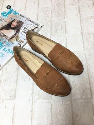現貨出清~台灣手工製 全真羊皮休閒鞋–棕色 70206-2   米蘭風情