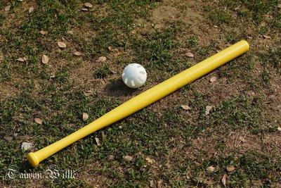 (教您分辨威浮球真偽)東森&民視體育新聞專訪*超威*威浮球(Wiffle Ball) 1黃棒+1黑棒含運=850元
