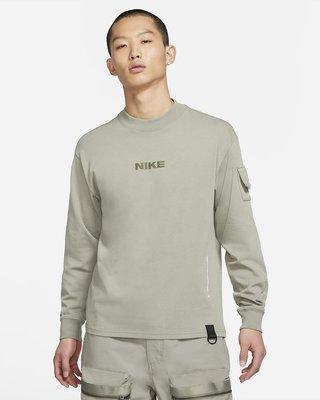 NIKE Sportswear Mock 男 長袖 運動訓練 口袋 寬鬆版 淺軍綠 DA0466-320 全新預購