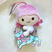Little twin stars女孩子 粉紅色騎馬馬有繩吊飾公仔 $78