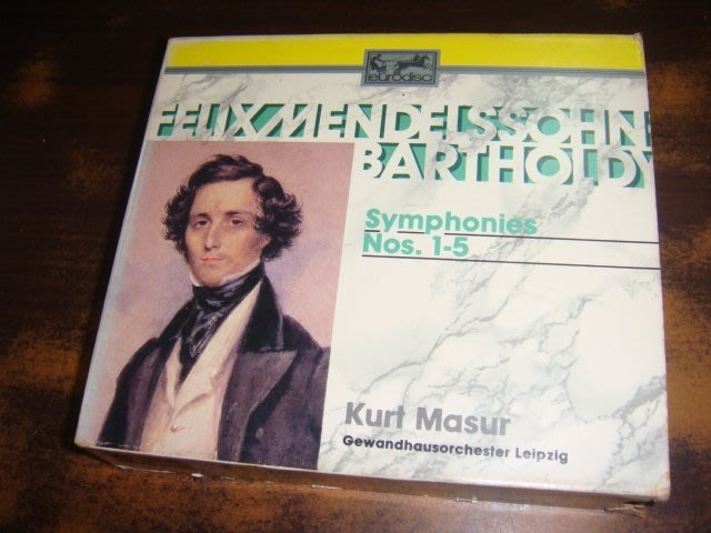 好音悅 Masur 馬舒 Mendelssohn 孟德爾頌 1~5號交響曲 3CD 萊比錫布商大廈管弦 美版 無IFPI