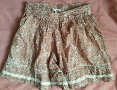 SINGLE NOBLE 獨身貴族 純棉 變形蟲幾何圖形短褲 褲裙 36號 S/M可穿