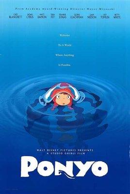 宮崎駿 吉卜力 - 崖上的波妞 (Ponyo) - 美國原版雙面電影海報(2008年)