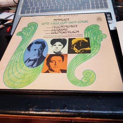 售EMI原版名盤(非復刻,英國錄音)*Mahler 馬勒 : 大地之歌*Klemperer 克倫貝勒 Das Lied