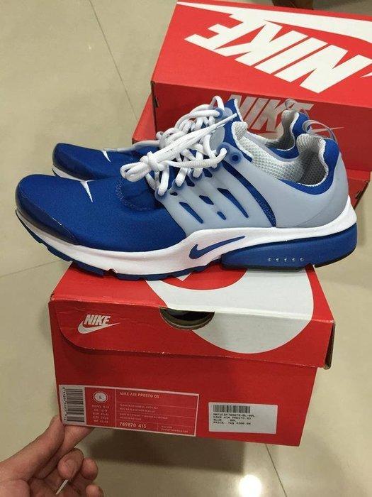 NIKE AIR PRESTO QS 789870-413 男女款 男段 慢跑鞋 藍白 M.L