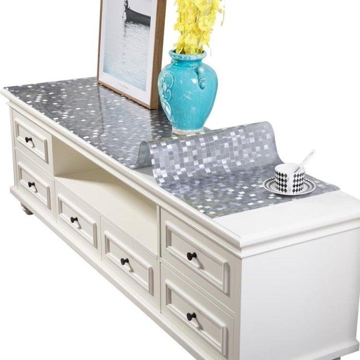pvc電視柜桌布防水防燙防油免洗長方形餐桌布茶幾桌墊床頭柜墊子