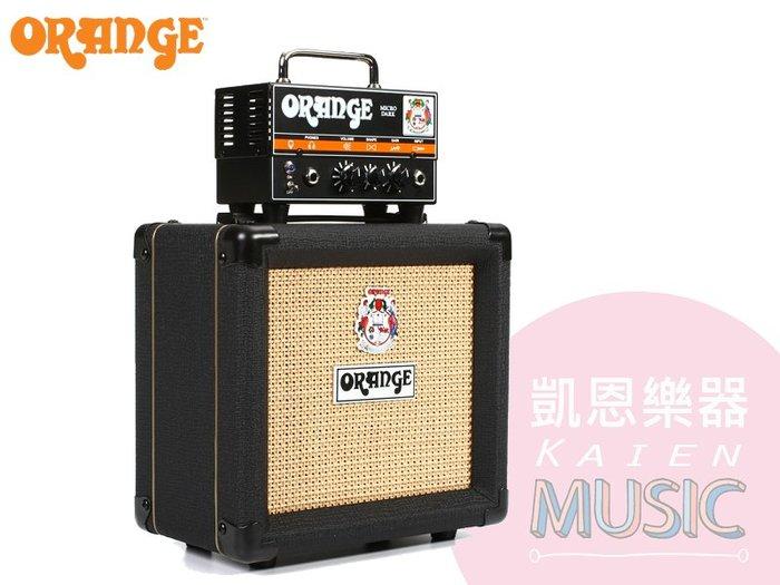 『凱恩音樂教室』免運優惠 ORANGE  Micro Dark + PPC 108 黑色 真空管 音箱頭 + CAB